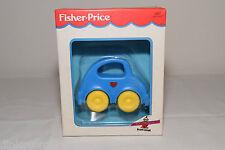 FISCHER PRICE 1453 VW VOLKSWAGEN BEETLE KAFER CAR RATTLE BLUE MINT BOXED