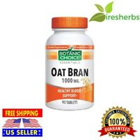 OAT BRAN 1000MG SOLUBLE FIBER HEART HEALTHY CHOLESTEROL SUPPLEMENT 90 TABLETS