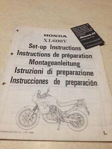 Honda XL600V L Transalp XLV 600 Instrucciones Desde Preparación Set - Hasta