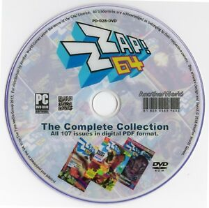 ZZAP 64! / COMMODORE FORCE Magazine Collection on Disk EVERY ISSUE C64/128 Games