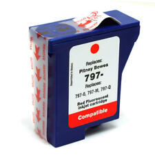 New Compatible Red Fluorescent Ink Cartridge for Pitney Bowes 797-0 797-M 797-Q