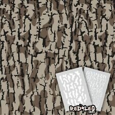 Redleg Camo ® Timber HD © duck boat camo stencil kit