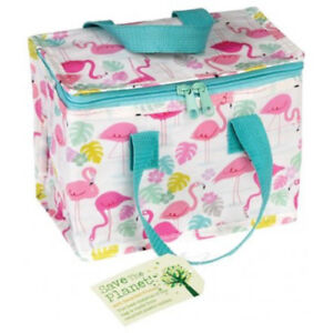 Environment Friendly Girls Ladies Insulated Flamingo Lunch Bag Gifts Presents