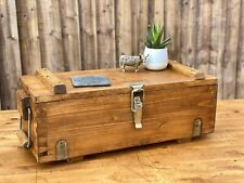 Rustic Ex Military Wooden Ammo Box Reclaimed Home Trunk Hamper Chest Toolbox