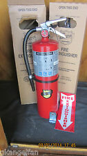 2-NEW CERTIFIED 2018-10lb ABC FIRE EXTINGUISHER RATED 4-A:80-BC W/BRACKET & SIGN
