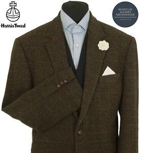Harris Tweed Jacket Blazer Size 46R Herringbone Windowpane Check Hacking Hunting