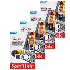 Sandisk 16/32/64/128GB Ultra Fit SDCZ43 USB 3.0 Flash Speicherstick 130MB/s