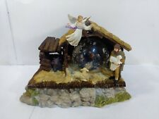 Holiday Workshop Nativity Lighted Globe Structure Christmas Decoration ch2183