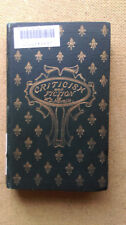 Criticism and Fiction William Dean Howells Harper & Brothers1st 1891 ex-library