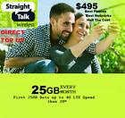 Straight Talk $495 Refill Card 25GB LTE Unlimited Talk,Text,Data,365 Day Card