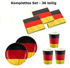 Fußball Party Deko Set Deutschland - 36-teiliges Set Kindergeburtstag Geburtstag