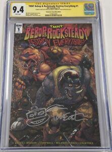 TMNT Bebop & Rocksteady Destroy Everything #1 Signed & Sketch Eastman CGC 9.4 SS
