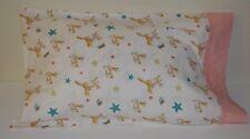 Rabbit Pillowcase One Handmade Travel Toddler size New cotton, butterflies stars
