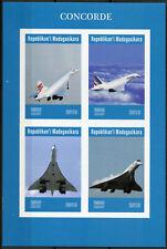 Madagascar 2019 MNH Concorde 4v IMPF M/S Transport Aviation Stamps