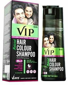 VIP Natural 5 in 1 (Black) Hair Color Shmapoo enriched with Pearl Extract 180ml