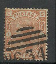 1873/80 Sg 156, 8d Orange (SC) Plate 1, Very fine used.