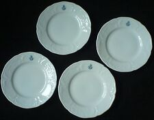 ROSENTHAL WHITE CLASSIC ROSE SANSSOUCI with monogram 6 inch Plates x4 will split
