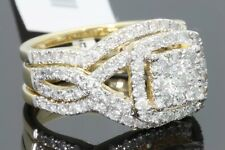 10K YELLOW GOLD 2 CARAT WOMENS DIAMOND ENGAGEMENT RING WEDDING BAND BRIDAL SET
