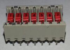 2 pcs.  AMP  7 poliger DIP-Schalter Codierschalter  5161390-7   DIP14   NOS  #BP