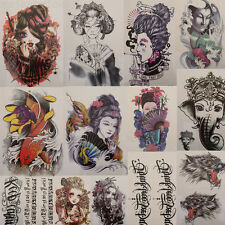 249 Grand tatouage temporaire Arm Body Art Tattoo amovible étanche autocollant