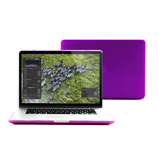 Deep Purple Rubber-Coated See-Through Case Cover for 13-inch Retina Macbook Pro