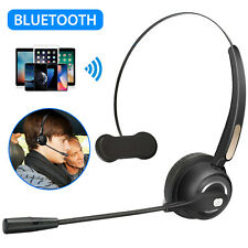 Wireless Bluetooth 5.0 Headset Noise Cancelling Boom w/Mic For Trucking Driver