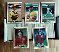 1981 Donruss Baseball Complete Set Tim Raines Rc Henderson 2nd Year Ryan Brett