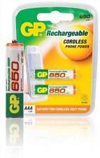 GP Ni-MH rechargeable 2x AAA Batteries 1.2 V 650 mAh GP-NIMH-AAA-01