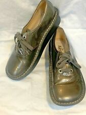 Alegria Charcoal Gray Patent Leather Oxford Size 39 ABB123