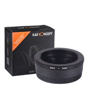 K&F Concept adapter with glass for M42 Screw mount lens to NIKON DSLR camera