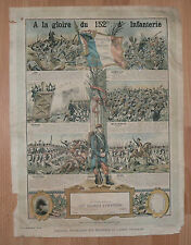 F Affiche poster 1900 1914 - A LA GLOIRE DU 152e RI Régiment d'Infanterie