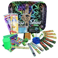More details for raw rolling smoking tray set - smokers hamper gift set kit weed accessories