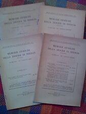 MEMORIE STORICHE DELLA DIOCESI DI BRESCIA - annata completa 1957  sotto i titoli