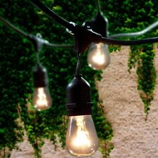 Waterproof Outdoor Commercial Grade Patio Globe String Lights Bulbs S14 48 FT