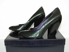 NEW ELISANERO Chameleon Mirror Patent Leather Heels Pumps 38 7.5 8 Italy $475
