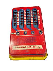 Vintage 1940's Wolverine Metal Tin Adding Machine Hand Pull Working Calculator