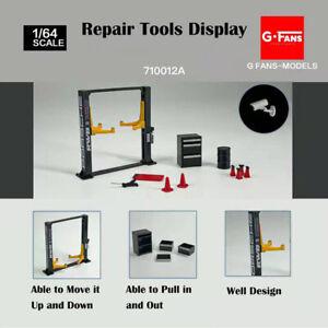 Diorama 1/64 Garage Maintenance Tools Set Alloy Die-Cast Model Car Display 12PCS