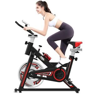 Cycling Bike Exercise Stationary Bike W/phone Mount Cardio Workout Indoor/Outdoo