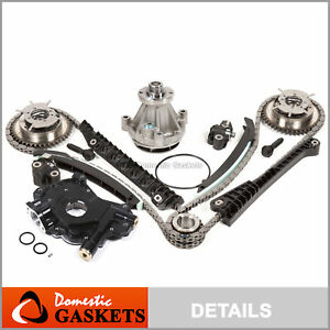 Timing Chain Kit Cam Phaser Water Pump Oil Pump for 04-10 Ford 5.4 TRITON 3VALVE