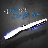 Comb Quick Electric Heated Brush Styler For Men Travel Hair Beard Straightener*