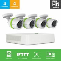 Refurbished: EZVIZ 1080p Smart Home Security 4 Camera System, 4CH DVR 1TB HDD