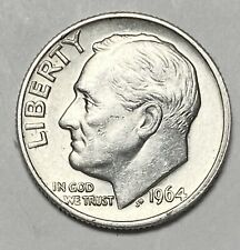 1964 Roosevelt Dime 10 Cents 0.900 Silver Uncirculated Coin  (3832)