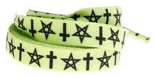 """66028 72"""" Long Shoelaces Boot Roller Skate Pentagram Crosses Sourpuss"""
