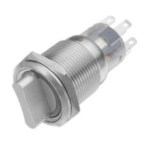 19mm Stainless Steel DPDT 2/3 position Push Button Switch Rotary Switch with LED