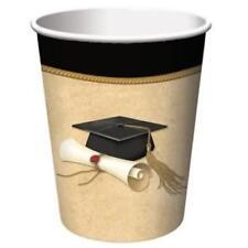 Sophisticate Grad 9 oz Hot/Cold Paper Cups 8 Pack Graduation Party Decorations