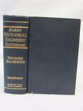 Baumeister & Marks MECHANICAL ENGINEERS' HANDBOOK 1964 McGraw-Hill 6thEd