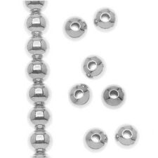 1000X Vintage Style Silver Tone Round Beads(3mm) Findings