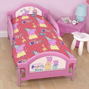 "PEPPA PIG "" Funfair""  Cot Toddler  Quilt Cover, Doona, Licensed"