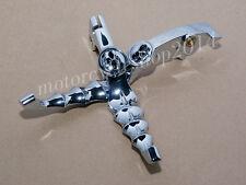 Chrome Steel Skull Skeleton Zombie Lever For Honda Shadow VTX VT 600 750 MAGNA