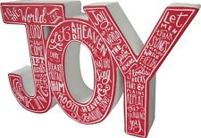 "Wood Christmas ""JOY"" Chunky Word Sign~Victorian/Country/Vintage/Tree/Wreath/Swag"